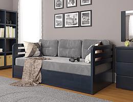 """Дитяче дерев'яне ліжко """"Немо люкс"""" з підйомним механізмом венге. Фабрика Арбор Древ"""