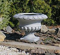 Садовый цветочный горшок серый малый 33x33x25 cm