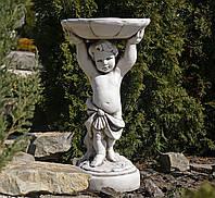 Садовая фигура для сада Мальчик с кормушкой 34.5x34x61 cm