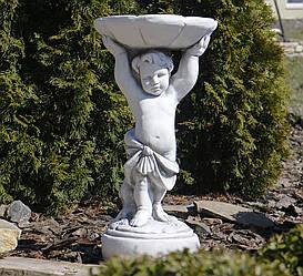 Садовая фигура для сада Мальчик с кормушкой 34.5x34x61cm