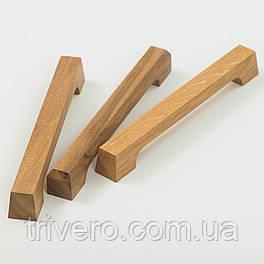Дизайнерская мебельная ручка деревянная дуб орех клен ясень