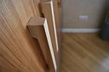 Дизайнерская мебельная ручка деревянная дуб орех клен ясень, фото 9