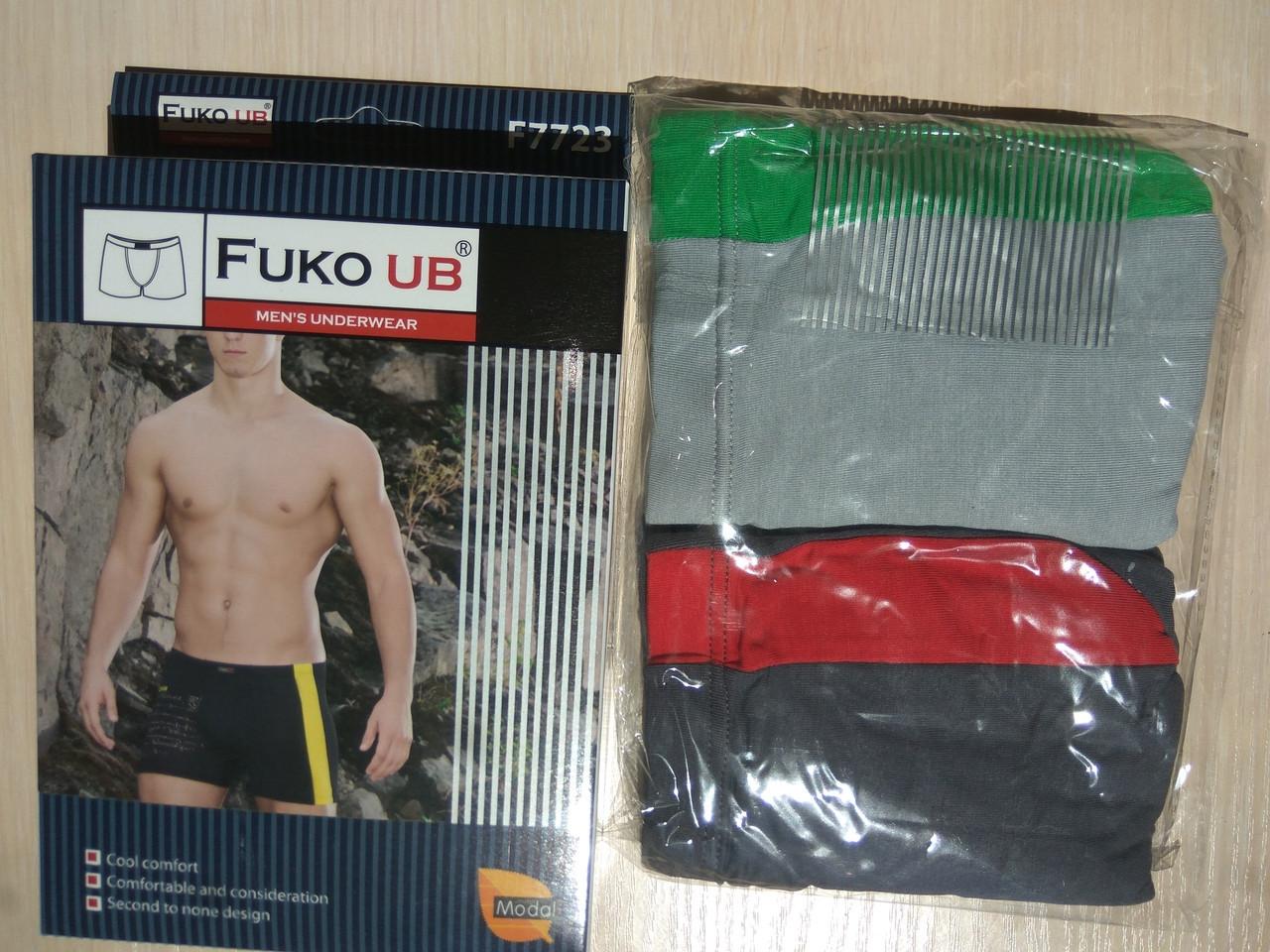 Трусы шорты боксеры Fuko Ub 7723 комплект 2шт XXXL серый темно серый