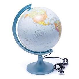 Глобус 250 політико-фізичний з підсвічуванням (англійська) 540210