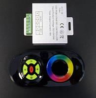Контроллер для светодиодной ленты Радио RGB 18А 12-24V (черный сенсорный пульт) 55/1, фото 1