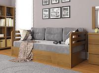 """Детская деревянная кровать """"Немо люкс"""" с подъемным механизмом орех. Фабрика Арбор Древ"""