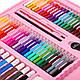 Набор для рисования и творчества в чемоданчике с мольбертом Super Mega Art Set 208 предметов- РОЗОВЫЙ, фото 6