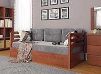 """Детская деревянная кровать """"Немо люкс"""" с подъемным механизмом яблоня локарно. Фабрика Арбор Древ"""