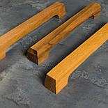 Дизайнерская мебельная ручка деревянная орех, фото 6