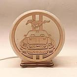 Соляной светильник круглый Мустанг, фото 3