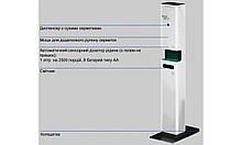 Автоматическая станция дезинфекции с блоком питания 220В и LED подсветкой