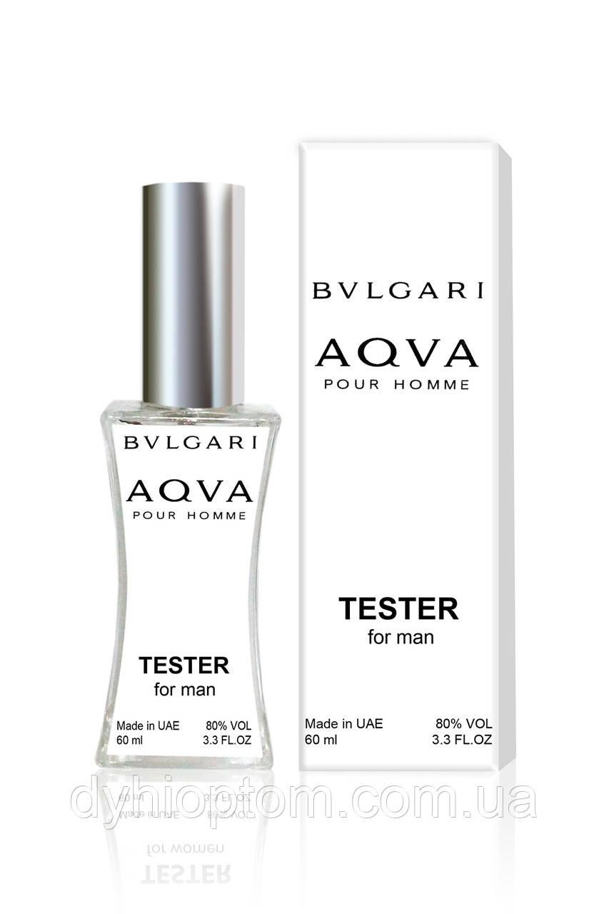 Тестер мужской Bvlgari Aqua Pour Homme, 60 мл.