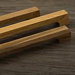 Мебельная ручка деревянная с гранями орех, фото 7