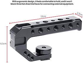Рукоятка UURig R005 на горячий башмак фотоаппарата для установки дополнительных фотоаксессуаров., фото 3