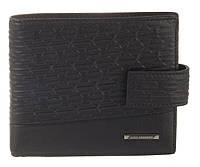 Элитный стильный прочный бумажник из натуральной качественной кожи LOUI VEARNER art. LOU82-591A черный, фото 1