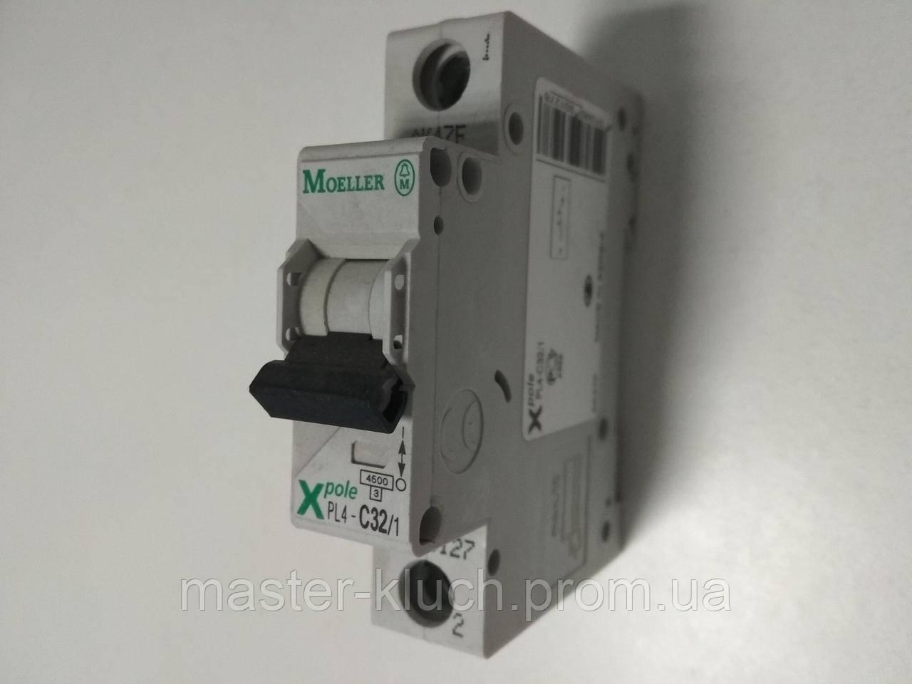 Автоматический выключатель Eaton PL4 1P C 32A