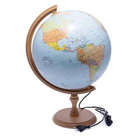 Глобус 320 політико-фізичний з підсвічуванням (український) 540213