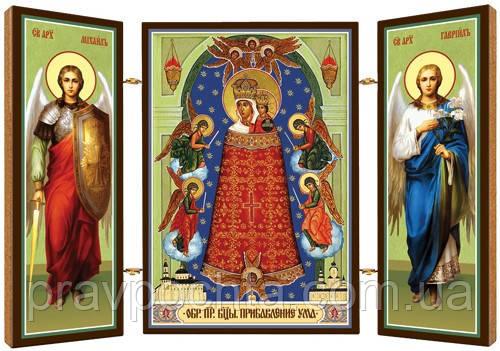 Икона Богородицы Прибавление Ума (Подательница Ума). Складень деревянный  58Х84, цена 38 грн., купить в Николаеве — Prom.ua (ID#1193033426)