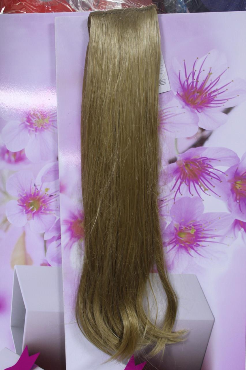 Шиньон на ленте искусственные волосы прямые золотистые