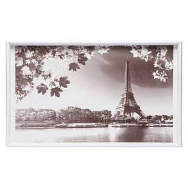 Столик на ножках 040441 белый Париж с озером