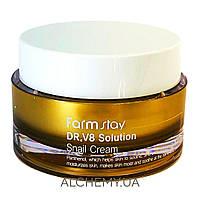 Крем для лица с муцином улитки FARM STAY DR.V8 Solution Snail Cream