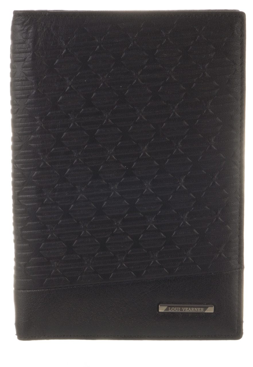 Стильная элитная кожаная обложка высокого качества LOUI VEARNER art.LOU82-2045A черного цвета