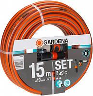 """Шланг GARDENA Basic 19 мм (3/4"""") x 15 м + комплект фитингов"""