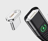 ROCK магнитный кабель usb type-c быстрая зарядка 3А для Android Samsung Xiaomi Цвет синий, фото 3