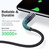 ROCK магнитный кабель usb type-c быстрая зарядка 3А для Android Samsung Xiaomi Цвет синий, фото 5