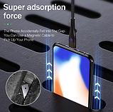 ROCK магнитный кабель usb type-c быстрая зарядка 3А для Android Samsung Xiaomi Цвет синий, фото 7