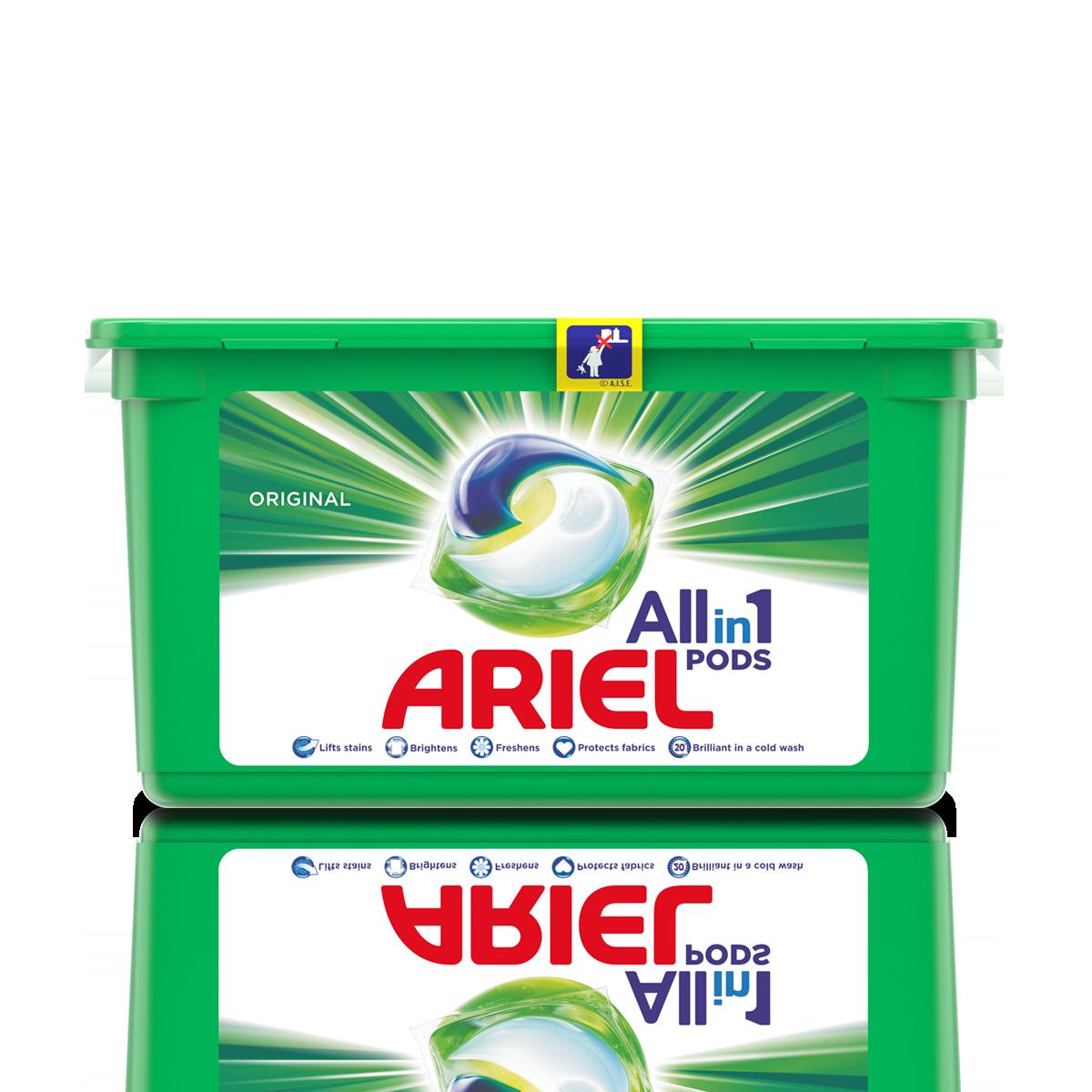 Капсули для прання Ariel 3 in 1, 35шт