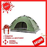 Палатка 4-местная автоматическая Зеленый | Палатка-автомат зеленого цвета
