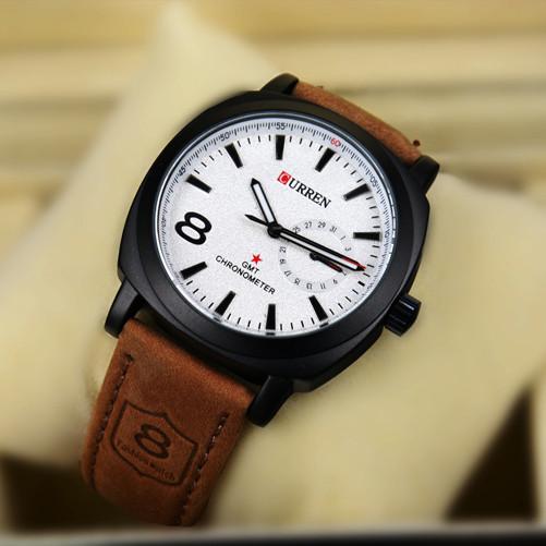Часы мужские Curren black white