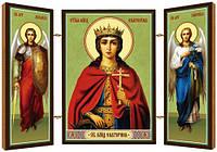 Великомученица Екатерина Александрийская, дева. Икона. Складень деревянный 58Х84