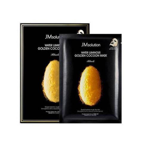 Тканевая маска с протеинами кокона золотого шелкопряда JM Solution Water Luminous Golden Cocoon Mask, фото 2