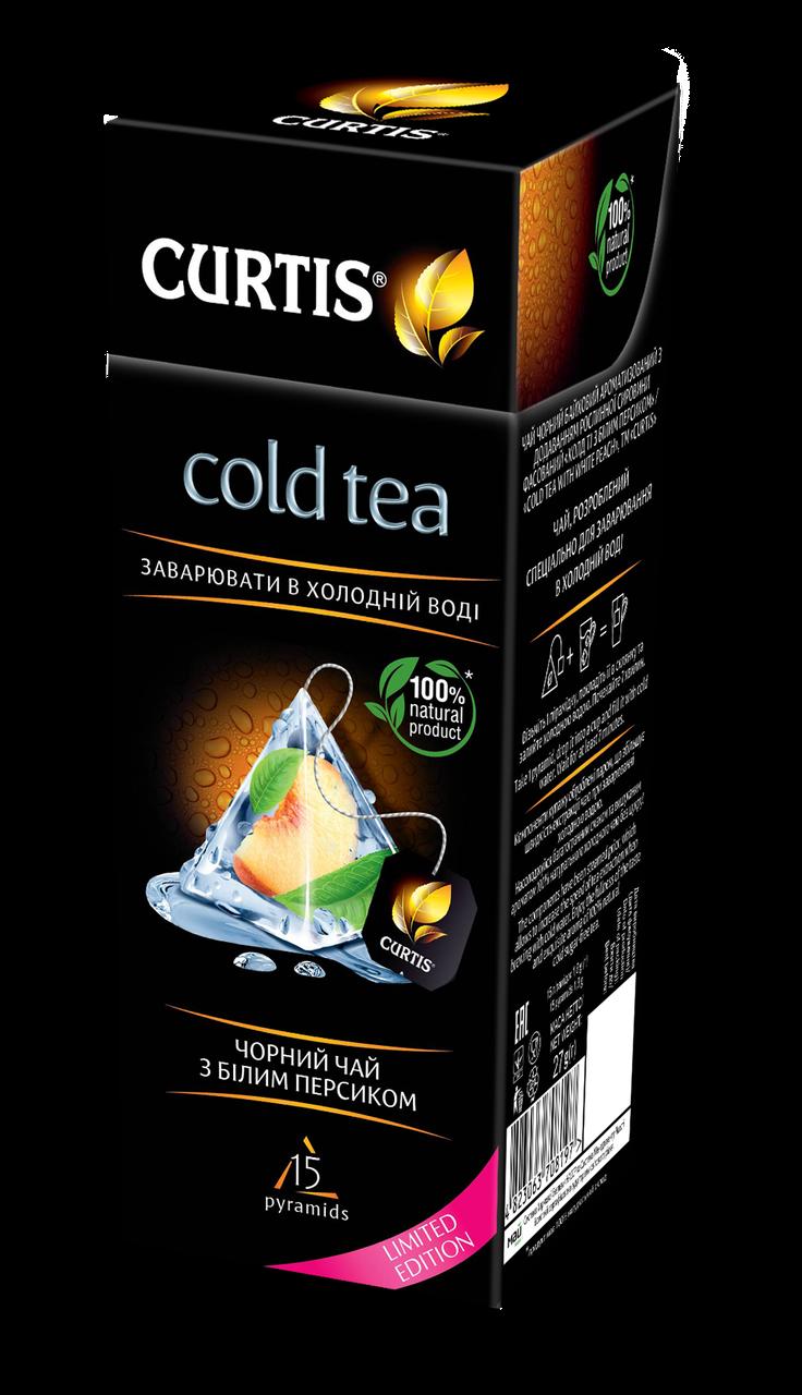 Чай холодный черный с персиком Curtis Cold Tea with White Peach 15 пирамидок