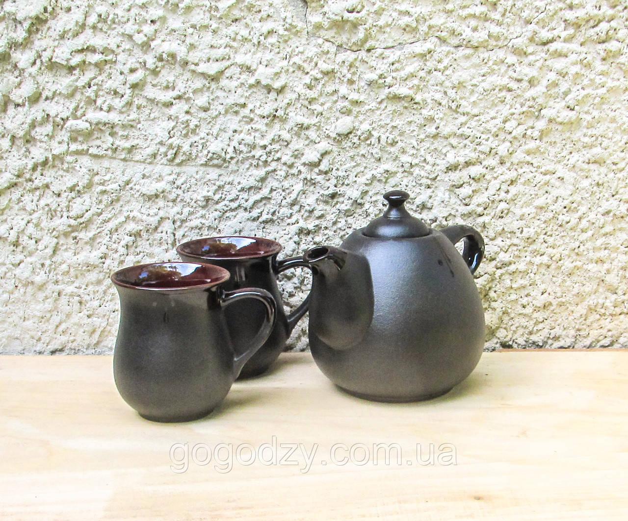 Чайний набір Крапля на 2 особи чорний