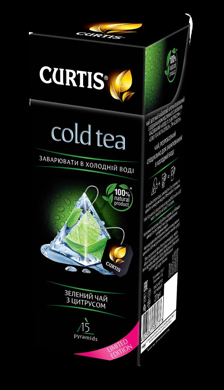 Чай холодный зеленый с цитрусом Curtis Cold Tea with Citrus 15 пирамидок
