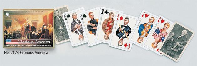 "Комплект гральних карт ""Glorius America"", 2х55 карт (шт.) 2174"