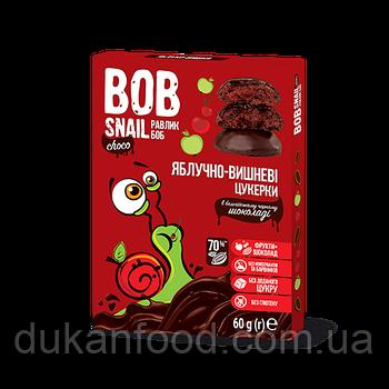 Конфеты Яблочно-Вишневые в бельгийском чёрном шоколаде, 60 г