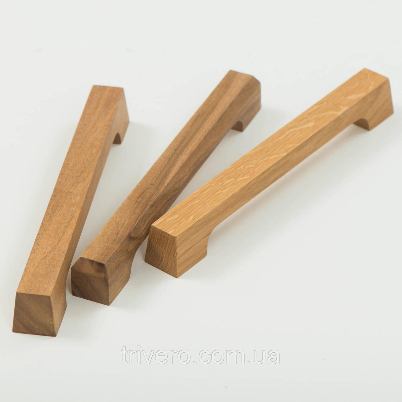 Ручка мебельная деревянная дуб орех клен ясень