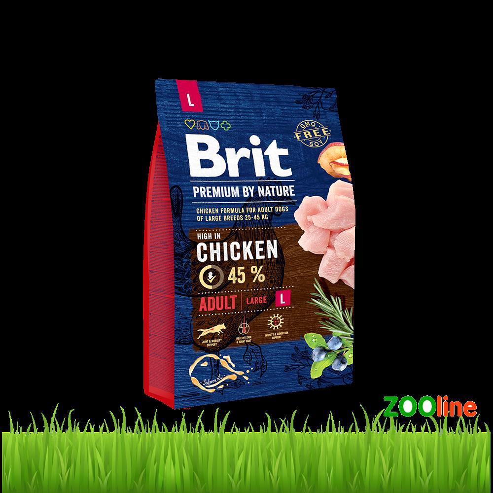 Сухой Корм для взрослых собак крупных пород  Брит Премиум Brit Premium Dog Adult L 8кг