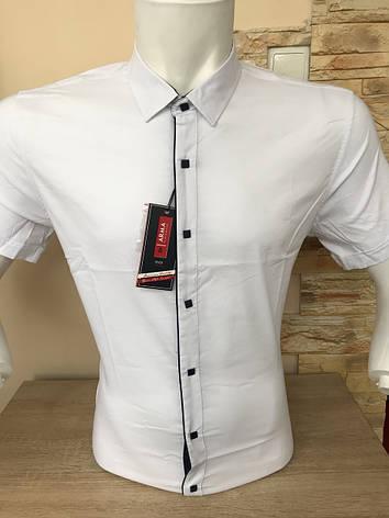 Однотонная рубашка короткий рукав Arma, фото 2