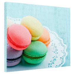 Картина на холсте Разноцветные макаруны 40x50 см (H4050_STV001)