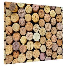 Картина на холсте Круглые деревянные бруски 40x50 см (H4050_STV004)