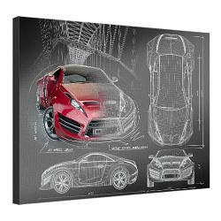 Картина на холсте Автомобиль 45x65 см (H4565_STV002)