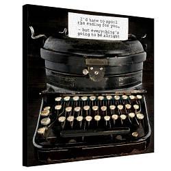 Картина на холсте Старая печатная машинка 50х50 см (H5050_STV001)