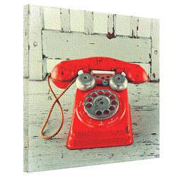 Картина на полотні 50х50 Червоного телефон (H5050_STV002)