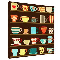 Картина на полотні 50х50 Кухлики (H5050_STV006)
