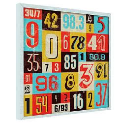 Картина на полотні 65х65 Випадкові цифри (H6565_STV001)